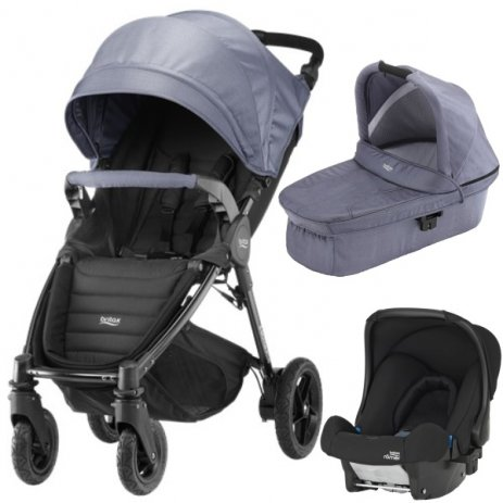 Britax B-MOTION 4 PLUS v setu s autosedačkou Blue Denim