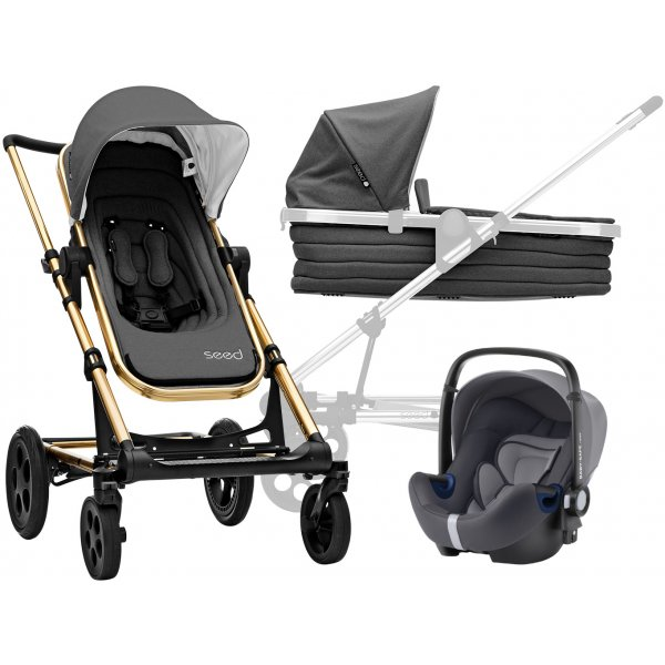 Britax SET Kočárek Seed Papilio Copper 2019 Black/Dark grey