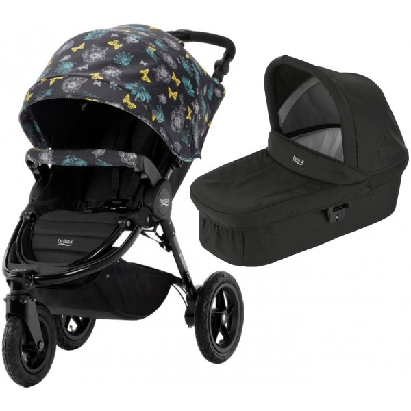 Britax B-Motion 3 PLUS + korba 2019/2020 Butterfly Flowers