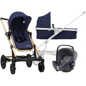 Britax SET Kočárek Seed Papilio Copper 2019 Black/Dark Navy