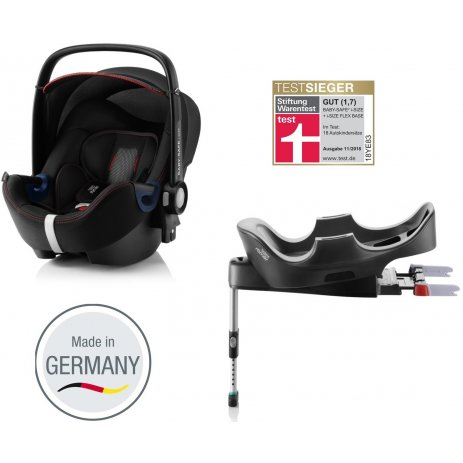 Römer Autosedačka Baby-Safe 2 i-Size Bundle Flex, Cool Flow 2020 Black